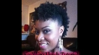 Cute And Easy Fro-Hawk On Short Natural Hair