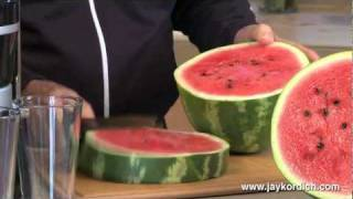 getlinkyoutube.com-Jay Kordich Makes Watermelon Juice