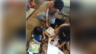Shahrukh Khan kids AbRam, Aryan and Suhana busy in painting; Must Watch | Filmibeat