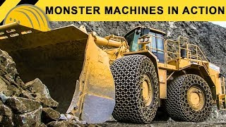 getlinkyoutube.com-Monster Machines in Action - Giant XXL Heavy Equipment Demoshow - Bauforum24 Steinexpo Report