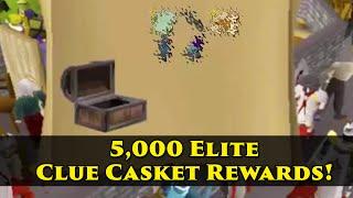 Loot from 5000 elite clue scroll caskets!