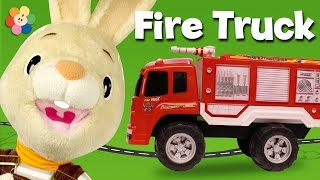getlinkyoutube.com-Playing with Toy Trucks for Kids! | The Fire Truck Toy | Harry the Bunny | BabyFirst TV