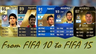 getlinkyoutube.com-Sergio Aguero Ultimate Team Cards from FIFA 10 to FIFA 15