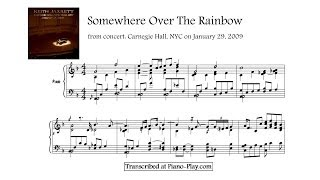 getlinkyoutube.com-Keith Jarrett - Somewhere Over The Rainbow, from: Carnegie Hall, 2009 (transcription)