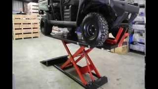 getlinkyoutube.com-Redline 1500HD Motorcycle & ATV Lift Table From www.RedlineStands.com
