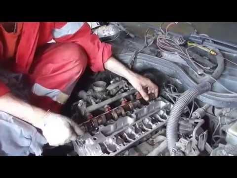Opel Omega ремонт головки,замена ГРМ(the timing belt repairs)
