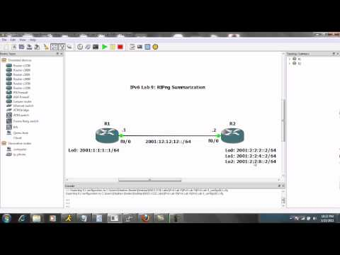 IPv6 Lab 9 Part 1 RIPng Summarization