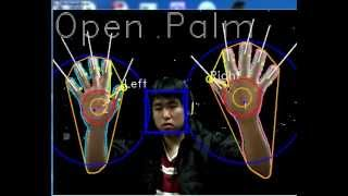 getlinkyoutube.com-OpenCV Hand tracking Fingers tracking + static gesture recognition (K-curvature convexity defects)