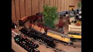 getlinkyoutube.com-How To Build an American Flyer Train Layout (on a ping pong table)