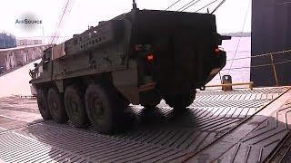 getlinkyoutube.com-U.S. Army Strykers Arrive in Japan