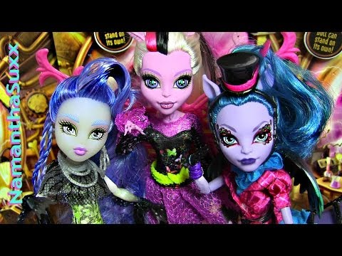 MONSTER HIGH FREAKY FUSION SIRENA VON BOO BONITA FEMUR AVEA TROTTER DOLL REVIEW VIDEO!!