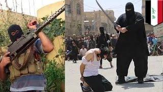 إعدام داعشي وبلدوزر الفلوجة يقطع يدي وقدمي فتاً مراهق