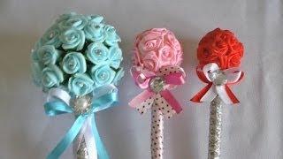 getlinkyoutube.com-Caneta decorada para o dia das mães ou casamento