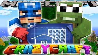 getlinkyoutube.com-Minecraft CrazyCraft - BUILDING IRONMAN'S TREE-HOUSE!!
