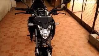 getlinkyoutube.com-Honda CB150R 2016 Walk Around Stock Sound