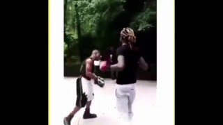 getlinkyoutube.com-Rappers Boxing Compilation 50 Cent Meek Mill Young Thug Edition