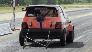 getlinkyoutube.com-9-Seconds 600hp Fiat Uno Turbo 1/4 Mile Accelerations!!