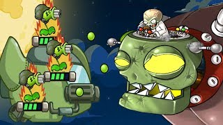 getlinkyoutube.com-Plants Vs Zombies Star Wars - New Space Ship Battle With Dr Zomboss - PVZ Tower Defense