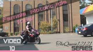 Woman Sportbike Rider On GSX-R 750 - Part 1