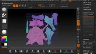 getlinkyoutube.com-ZBrush 4R6 - Pipeline High Poly para Low Poly