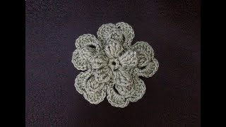 getlinkyoutube.com-How to Crochet a Flower Pattern #17 by ThePatterfamily