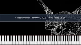 getlinkyoutube.com-Gundam Unicorn - PIANO UC-NO.3 Piano Cover TUTORIAL