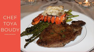 getlinkyoutube.com-How To Cook A Classic Steak and Lobster Dinner