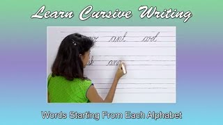 Words Starting From Each English Alphabet | Alphabets & Words For Children | Abc Phonics For Babies
