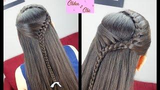 getlinkyoutube.com-Diadema Sostenida - Pull Back Headband | Peinados Faciles y Rapidos | Trenza Diadema