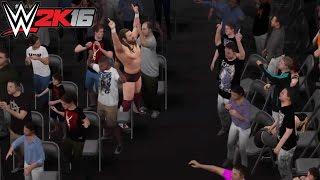 WWE 2K16 How to Fight in the Crowd Tutorial (Glitch)- PS4