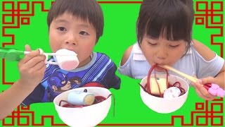 getlinkyoutube.com-グミひもラーメン お菓子トッピングしてできあがり!!! こうくんねみちゃん