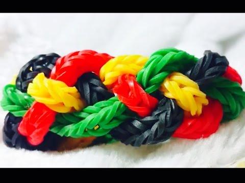 Raibow Lom-Pulseiras de Elásticos (CORES DO REGGAE)Gomitas-Reggae