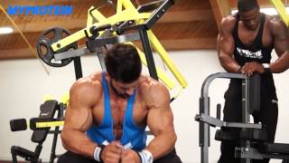 getlinkyoutube.com-Sergi Constance and Simeon Panda BIG BACK WORKOUT