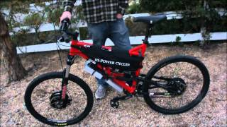 getlinkyoutube.com-50 MPH 8000W AWD Electric Offroad Mountain Bike First Drive