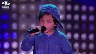 getlinkyoutube.com-Matthew canta 'Boyfriend' de Justin Bieber | La Voz Kids Colombia - Audiciones a ciegas