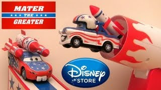 getlinkyoutube.com-Mater the Greater Stunt Playset with Daredevil Lightning McQueen Disney CARS TOON Cannonball Pixar