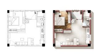 getlinkyoutube.com-Architecture plan render by photoshop