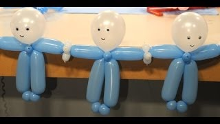 getlinkyoutube.com-Decoración con globos para Baby Shower - Maricel Merigo