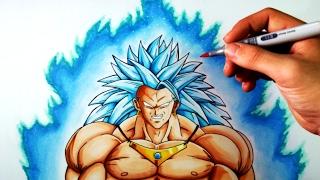 getlinkyoutube.com-Cómo Dibujar a Broly SSJ3 Dios azul | Dragon Ball | ArteMaster