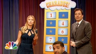 getlinkyoutube.com-Charades with Scarlett Johansson and Drake (Late Night with Jimmy Fallon)