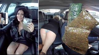 getlinkyoutube.com-Selling Massive Amounts Of Marijuana While Driving For Uber Prank!!