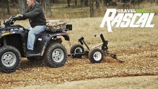 getlinkyoutube.com-Gravel Rascal - ATV Driveway Grader & Landscape Rake