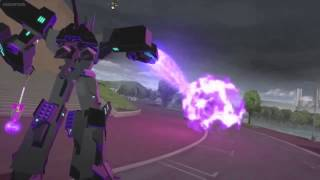 getlinkyoutube.com-Transformers Robots In Disguise Optimus Prime vs Megatronus Prime