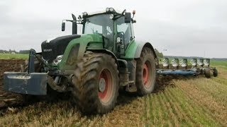 getlinkyoutube.com-Giant Fendt 936 Vario ploughing