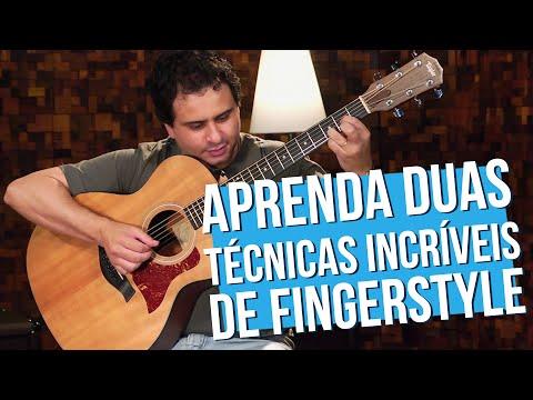 T�cnicas Simples de Hammer-On e Pull-Off (aula de viol�o fingerstyle)