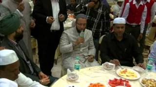 getlinkyoutube.com-Asaduddin Owaisi, Kishan Reddy and other leaders at Iftar Party