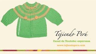 getlinkyoutube.com-Ropón o chaquetita fácil tejida en dos agujas para bebes