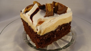 getlinkyoutube.com-Reese's Peanut Butter Cup Poke Cake- with yoyomax12