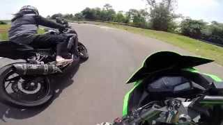 getlinkyoutube.com-GoPro | Kawasaki Ninja 250 FI Race at Subang, Indonesia (Denysoon's view)
