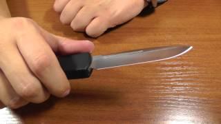 getlinkyoutube.com-Нож Microtech Ultratech автоматический тактический нож.